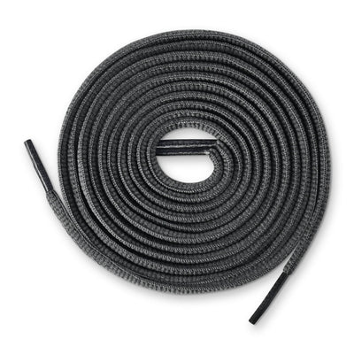 Oval Shoe Laces (Dark Grey)