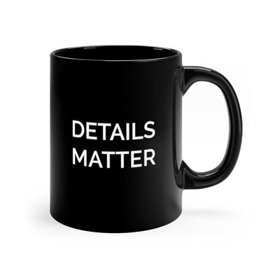 "LK ""Details Matter"" Smooth Ceramic Mug - 11oz"