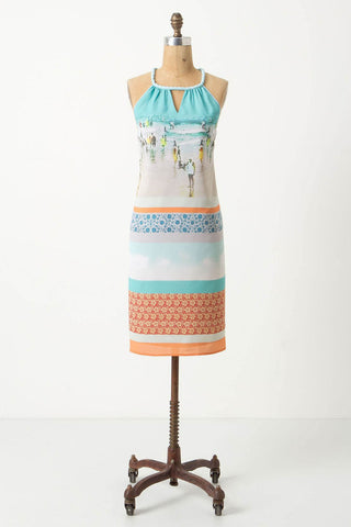 Inkjet Halter Dress