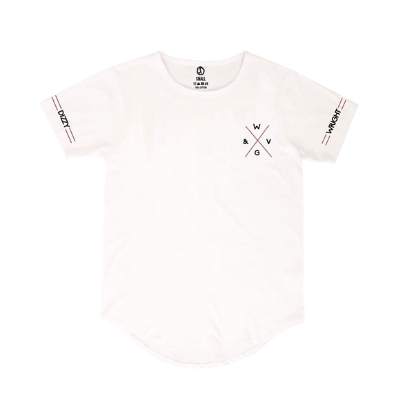 Dizzy Wright W&GV Curved Hem White T-Shirt
