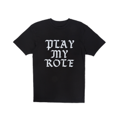 Play My Role Tee in Black
