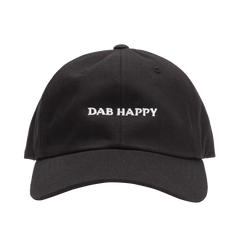 Dab Happy Black Dad Hat