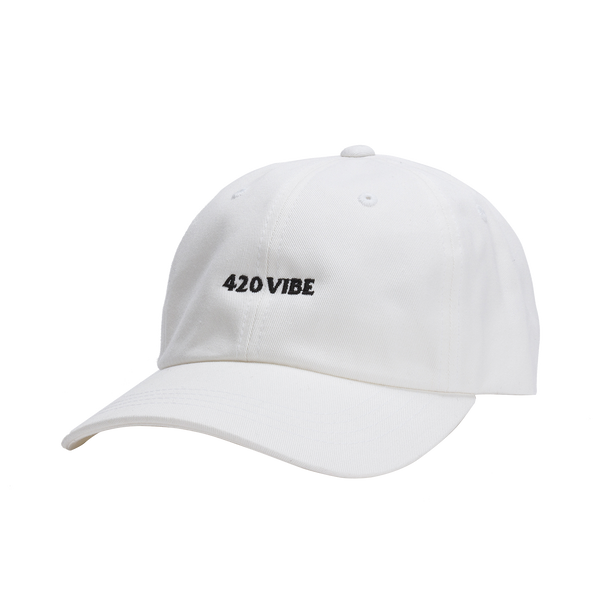 420 Vibe White Dad Hat