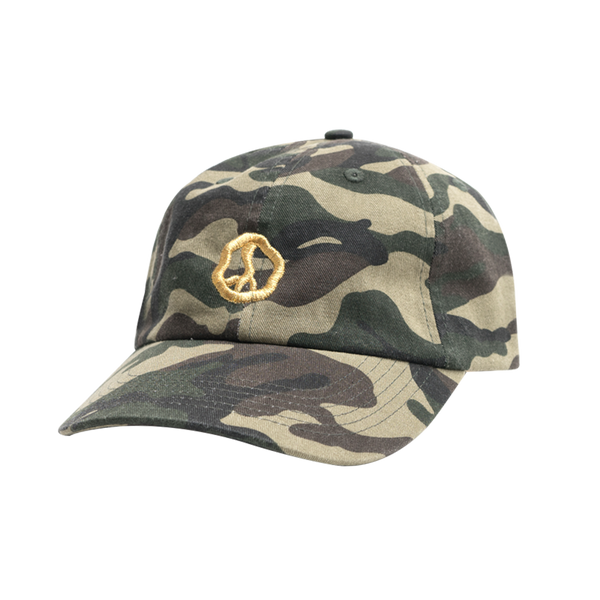 TGA2 Golden Peace Dad Hat in Camo