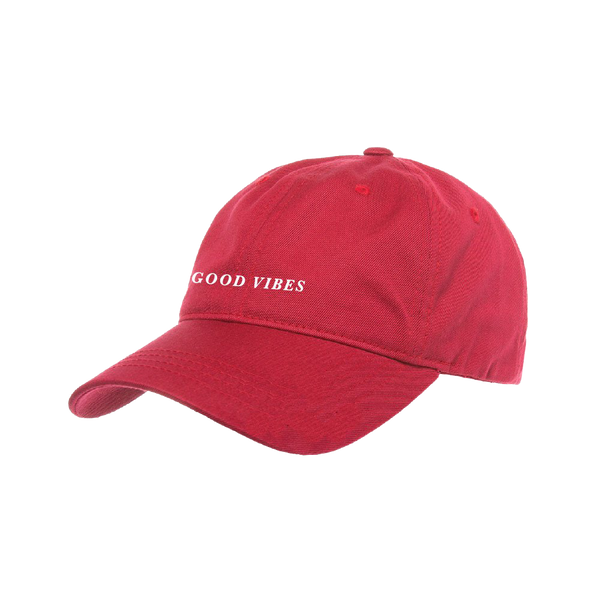 Good Vibes Cranberry Dad Hat