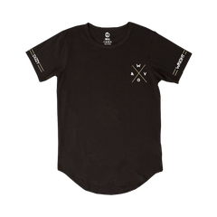 Dizzy Wright W&GV Curved Hem Black T-Shirt