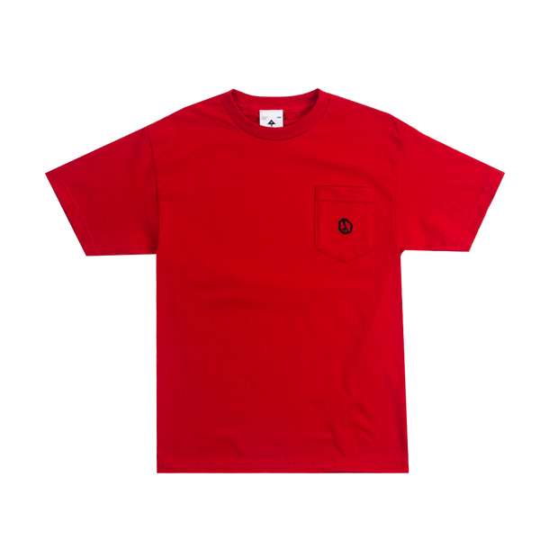 LRG Good Vibes Pocket Tee in Red