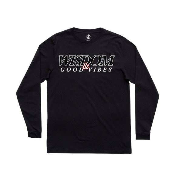 Dizzy Wright Wisdom & Good Vibes Black Long Sleeve