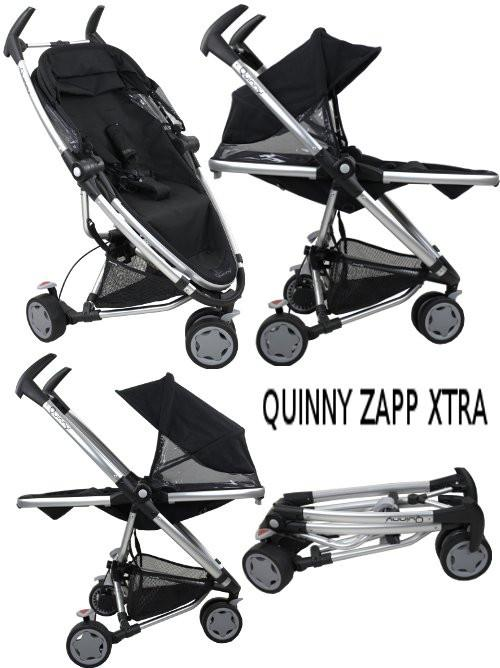 Quinny Zapp Xtra Stroller + Maxi Cosi Infant Carrier Cabriofix