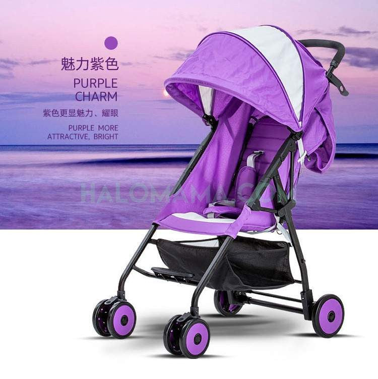 RHINE Baby PREMIUM BUDGET Stroller Purple SPECIAL EDITION 201-SHOCKING DEAL-| Strollers|HALOMAMA.com - HALOMAMA.com
