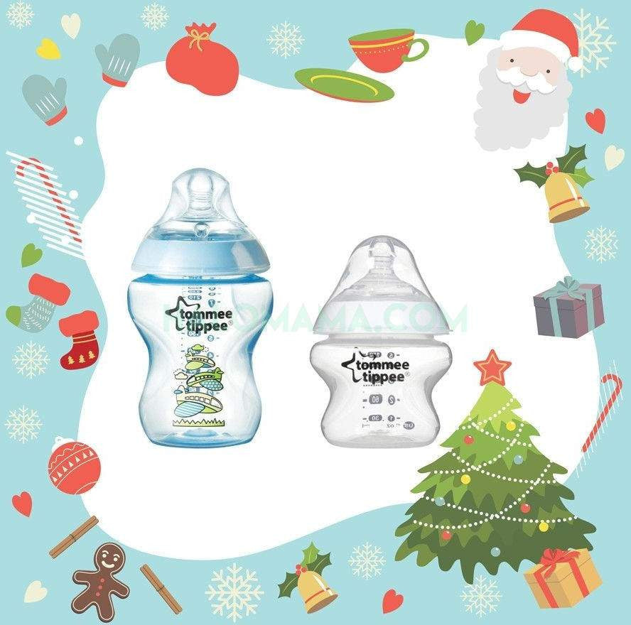 Super Sale-Decorated Feeding Bottle (0M+) 260ml +  Anti Colic Plus PP Bottle 150ml - Halomama.com