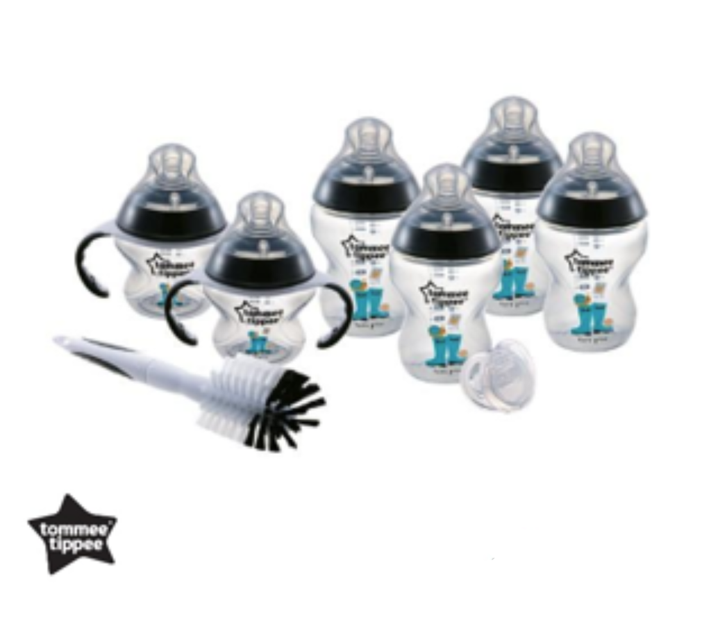 TOMMEE TIPPEE CTN DECORATED BOTTLE NEWBORN STARTER KIT-BLACK /100% Original/Hot Selling