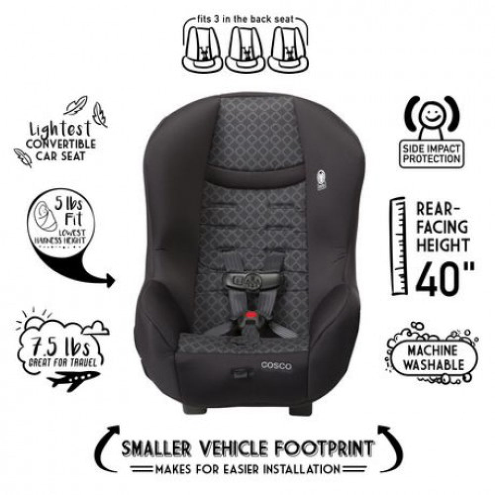 COSCO SCENERA NEXT CONVERTIBLE CAR SEAT - BLACK DIAMOND