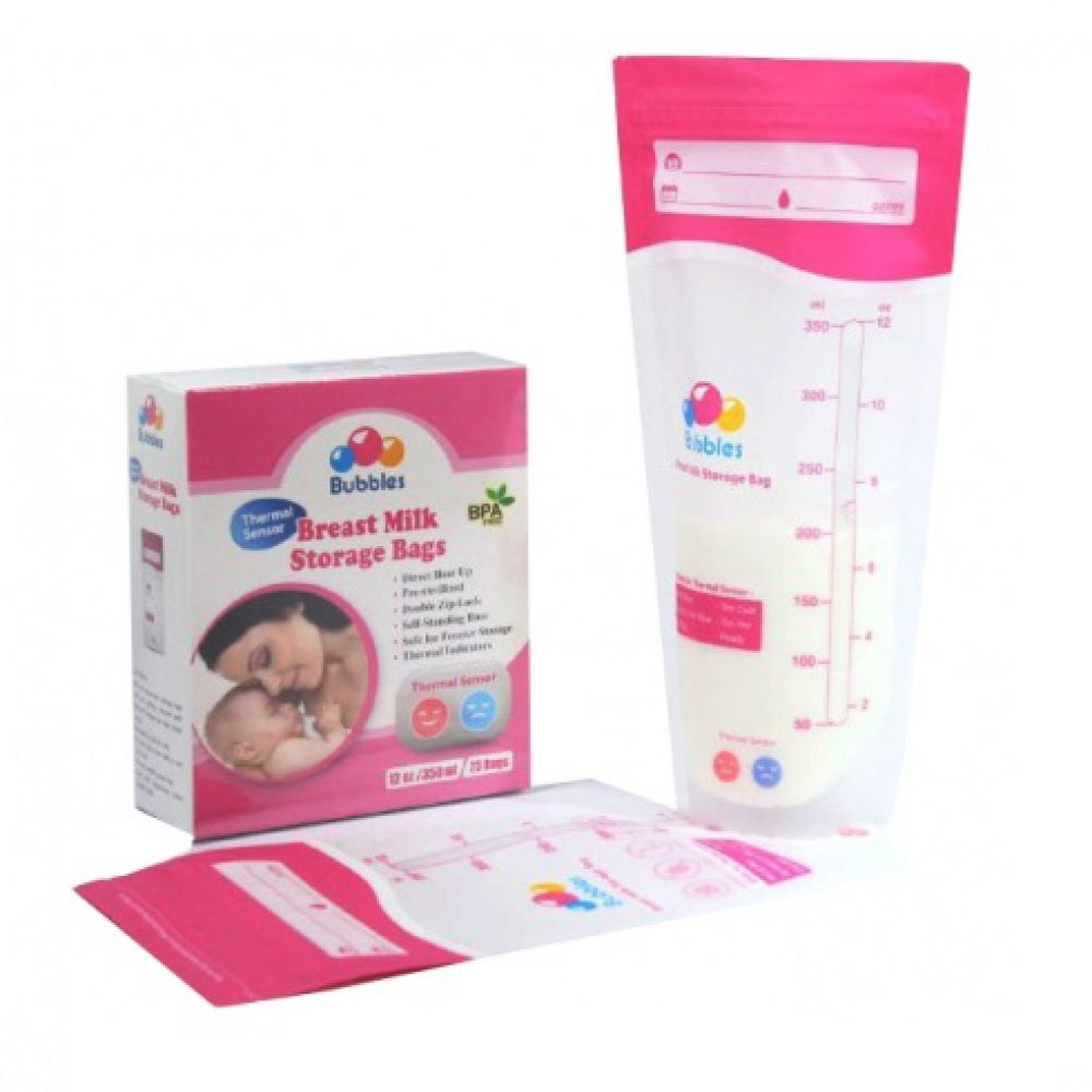 BUBBLES BREASTMILK STORAGE BAGS 12oz - COMBO PACK