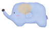 Babylove Jumbo Newborn Cotton Pillow (35 x 21 cm) (Blue/ Pink)