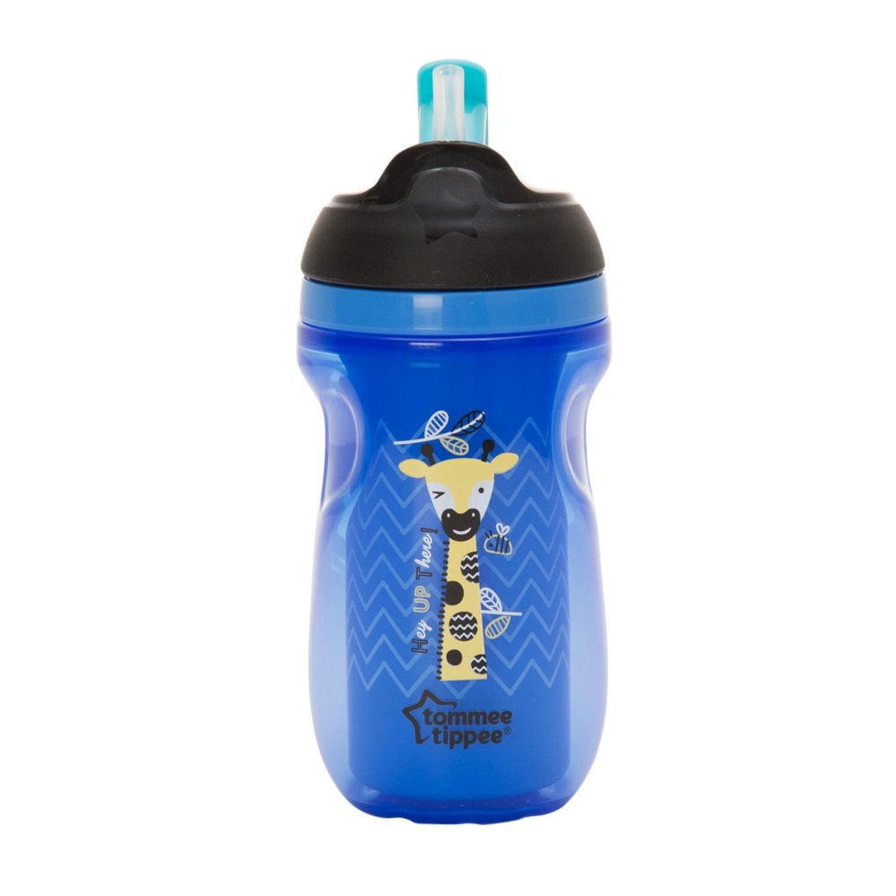 TOMMEE TIPPEE INSULATED STRAW CUP 260ML (12M+) BLUE/ Reward Winning| |Halomama - HALOMAMA.com