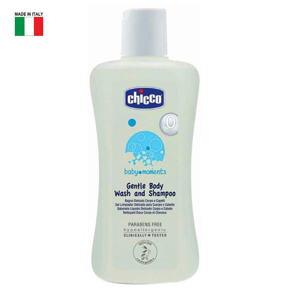 CHICCO COSMETIC-Baby Moments Gentle Body Wash & Shampoo 200ML