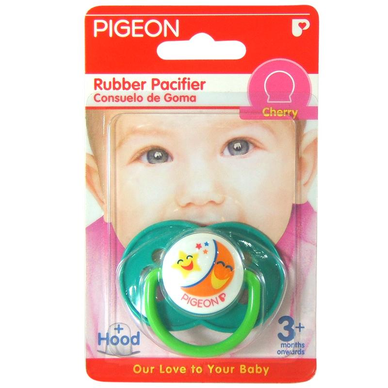 New In Box PIGEON RUBBER PACIFIER  PINK/ Japan Brand/ 100% Original