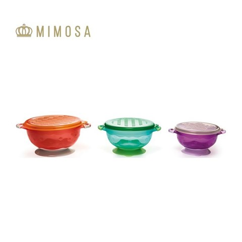 MIMOSA SUCTION BOWLS AND LID| |halomama - HALOMAMA.com