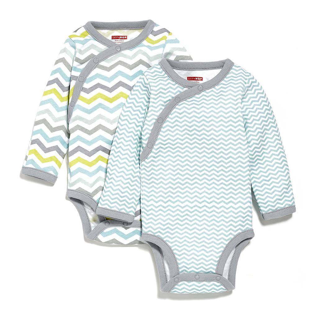 [FREE SHIPPING] Skip Hop SC 2pc Bodysuit Long Sleeve - Boy - 3 Months