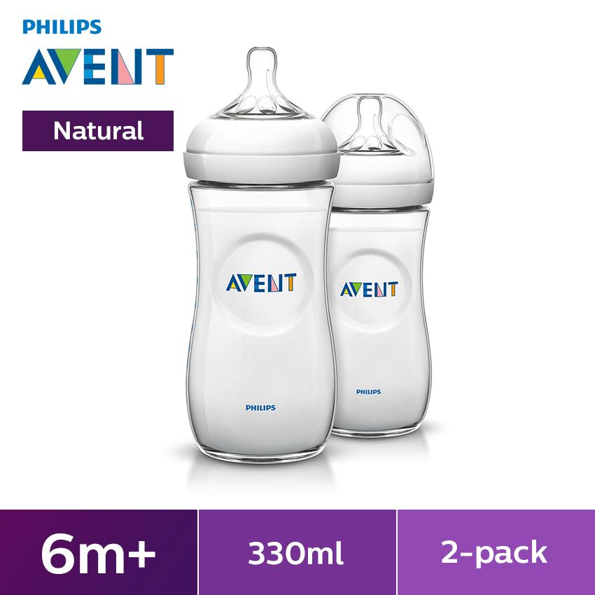 PHILIPS AVENT BOTTLE 330ML/11OZ NATURAL (2.0) -TWIN PACK| |Halomama - HALOMAMA.com
