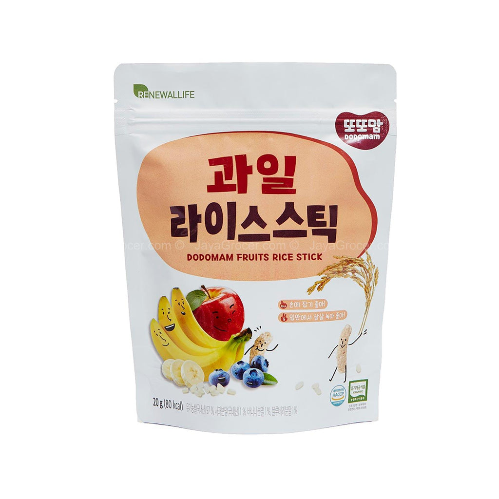 Renewallife DDODDOMAM Organic Rice Stick -(Vegetables/BERRY/FRUITS) Korean Brand/ 100% Original| FOOD|Renewallife - HALOMAMA.com