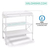 GROW TOGETHER Super Gorgeous Folding Baby Changing Table with Mat  - Infant and Children Diaper Change & Bath Use- height adjustable