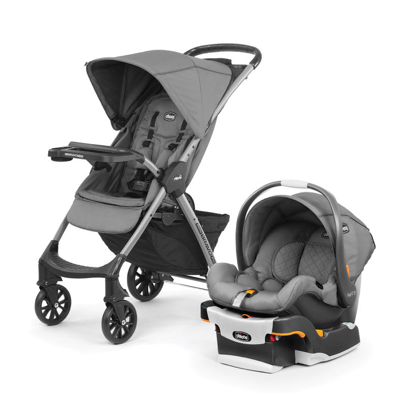 CHICCO MINI BRAVO PLUS TRAVEL SYSTEM (COLOUR: SLATE / MIDNIGHT) **MYSTERY CHICCO FREE GIFT| Travel System|Chicco - HALOMAMA.com
