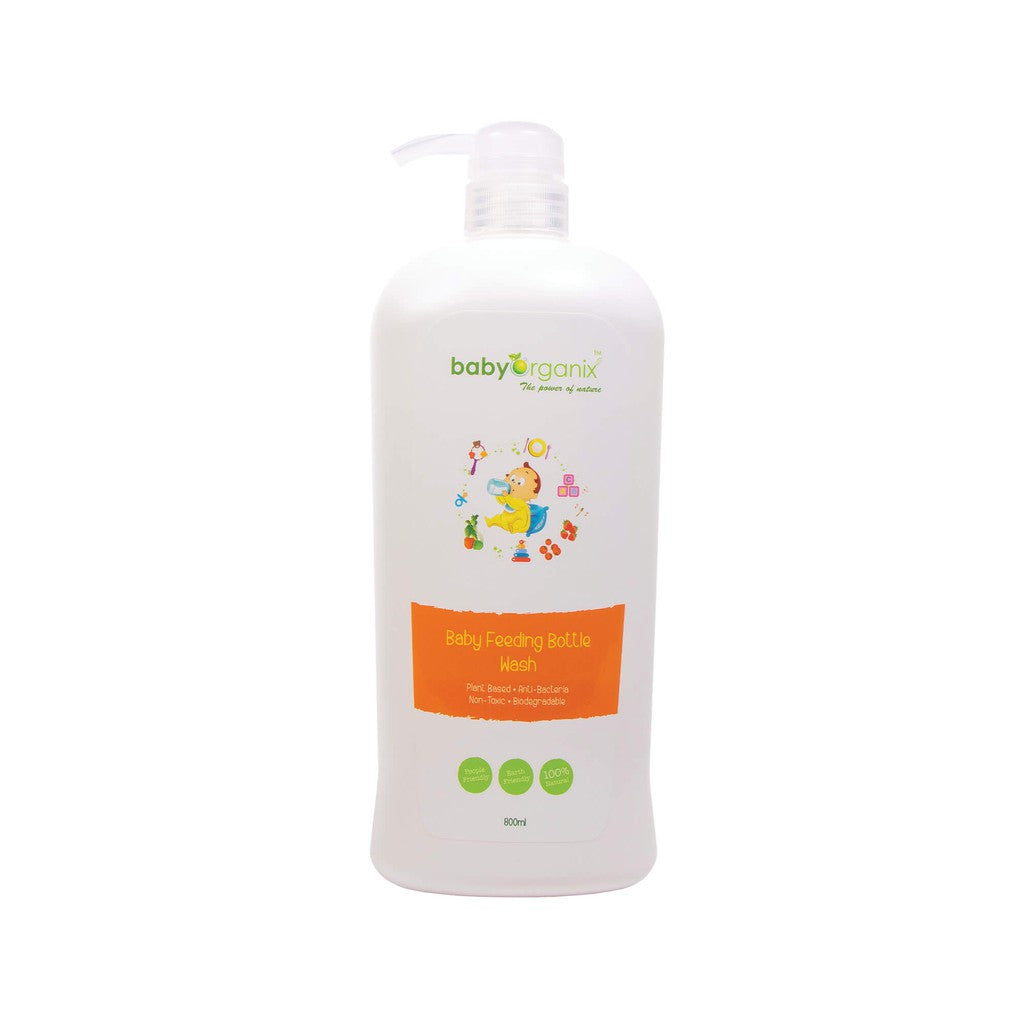 BABY ORGANIX Baby Feeding Bottle Wash (Twin Pack) 800ML*2