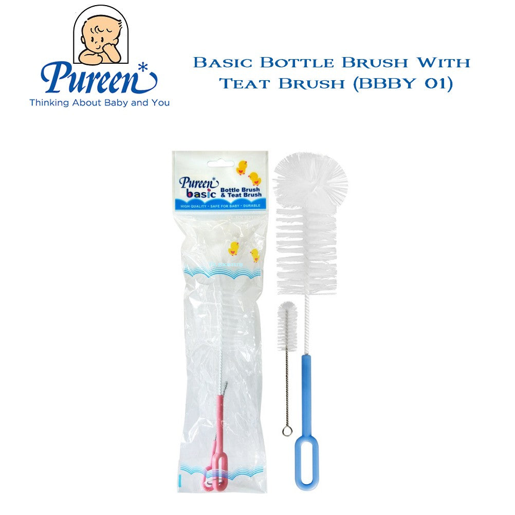 PUREEN BASIC BOTTLE  & TEAT BRUSH - PM FOR COLOUR SELECTIONS