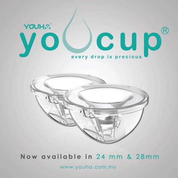 New In Box Youha Youcup/ 100% Original/ Top Brand (24/28mm) with FREE YOUHA Milk Storage 200 (20pcs) and BUBBLES Disposable Breast Pad