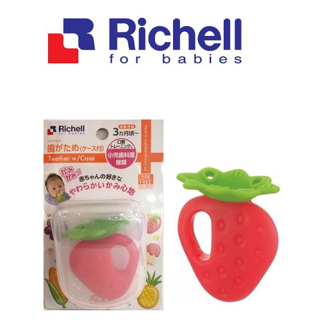 RICHELL TEETHER ICE CANDY/ MUSHROOM/ STRAWBEERY W/CASE| |Richell - HALOMAMA.com