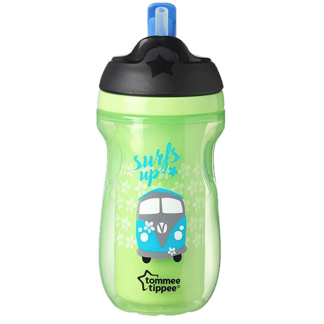 TOMMEE TIPPEE INSULATED STRAW CUP TUMBLER 266ML 12M+ Green| drinking|Halomama - HALOMAMA.com
