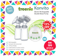 Treenie - (Konvito) Electric Rechargeable Double Breastpump