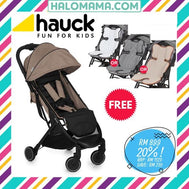 Hauck Swift Melange Grey + FREE 3D BODY SUPPORT WORTH RM109