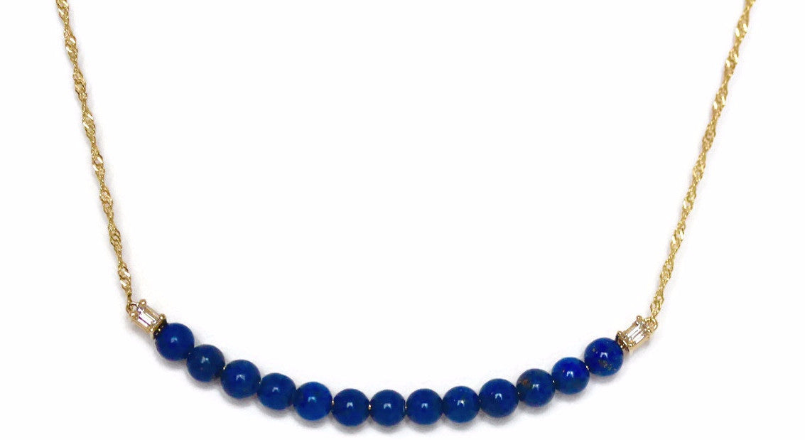 Jacqueline Necklace with Lapis