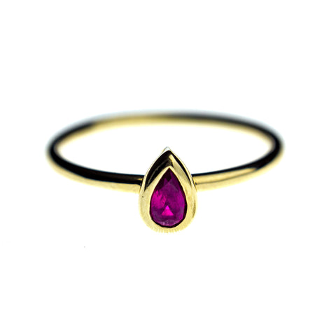Ruby Drop Ring
