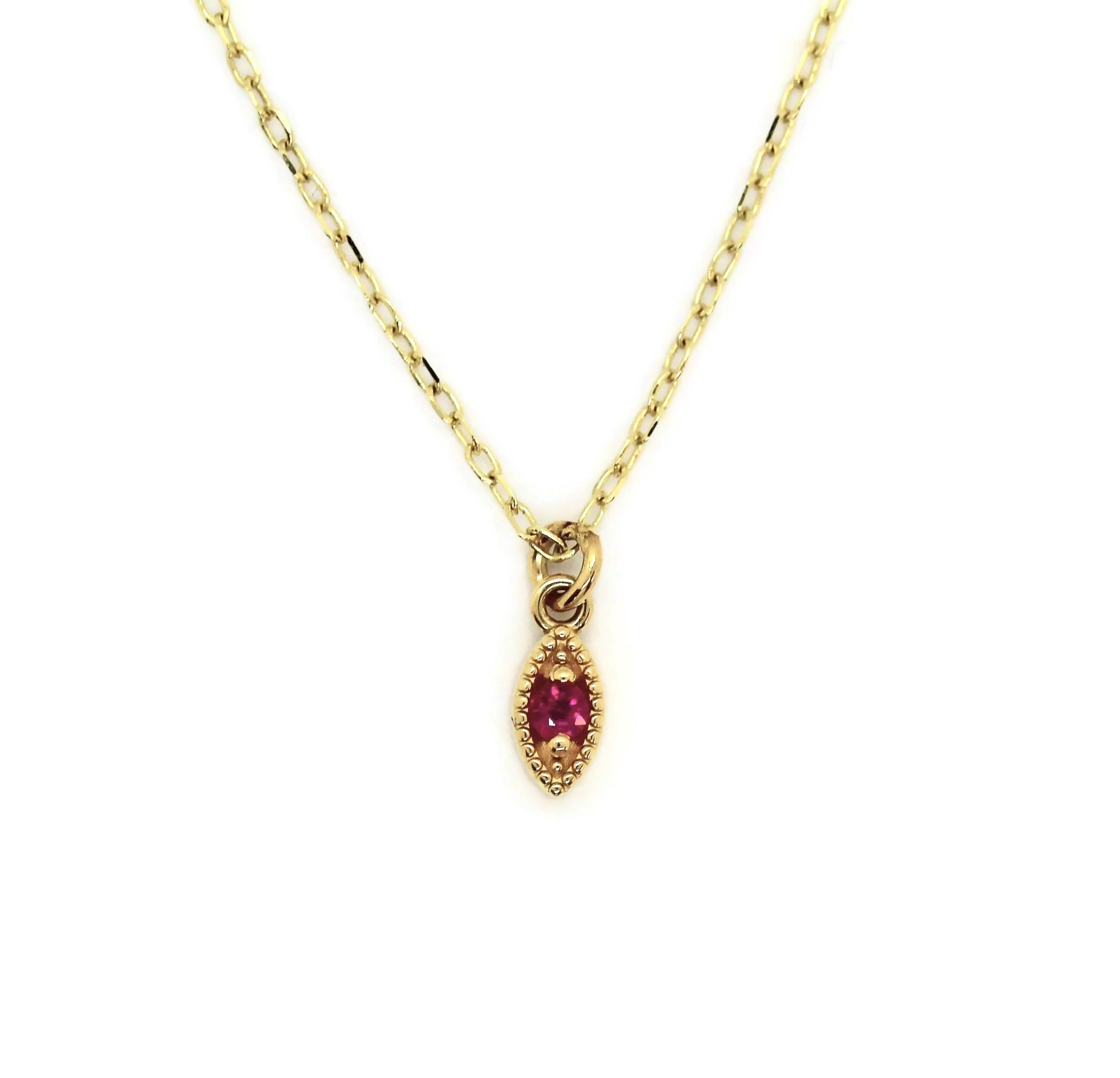 Ethereal Marquise Ruby Necklace
