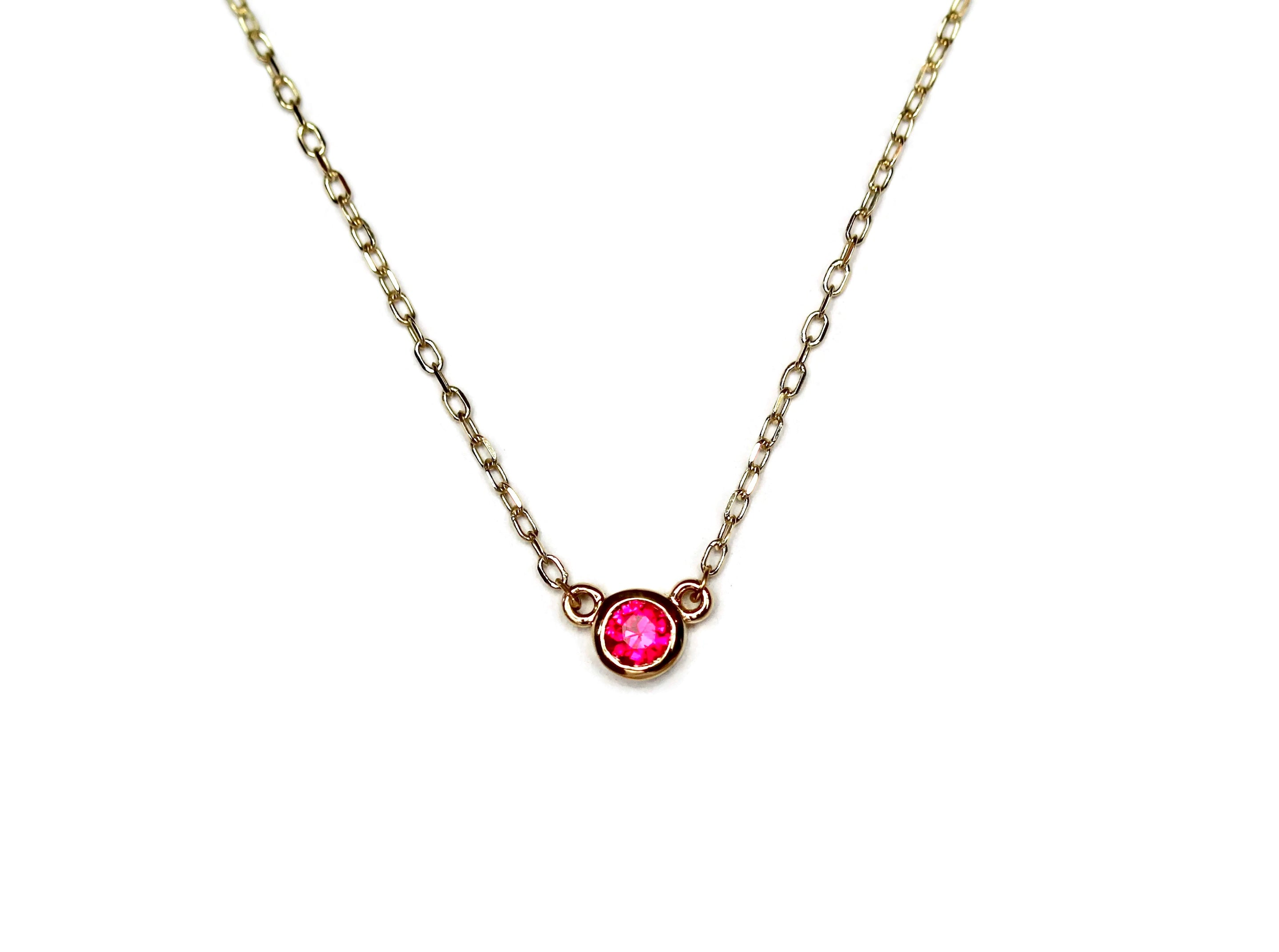 Amor Ruby Necklace