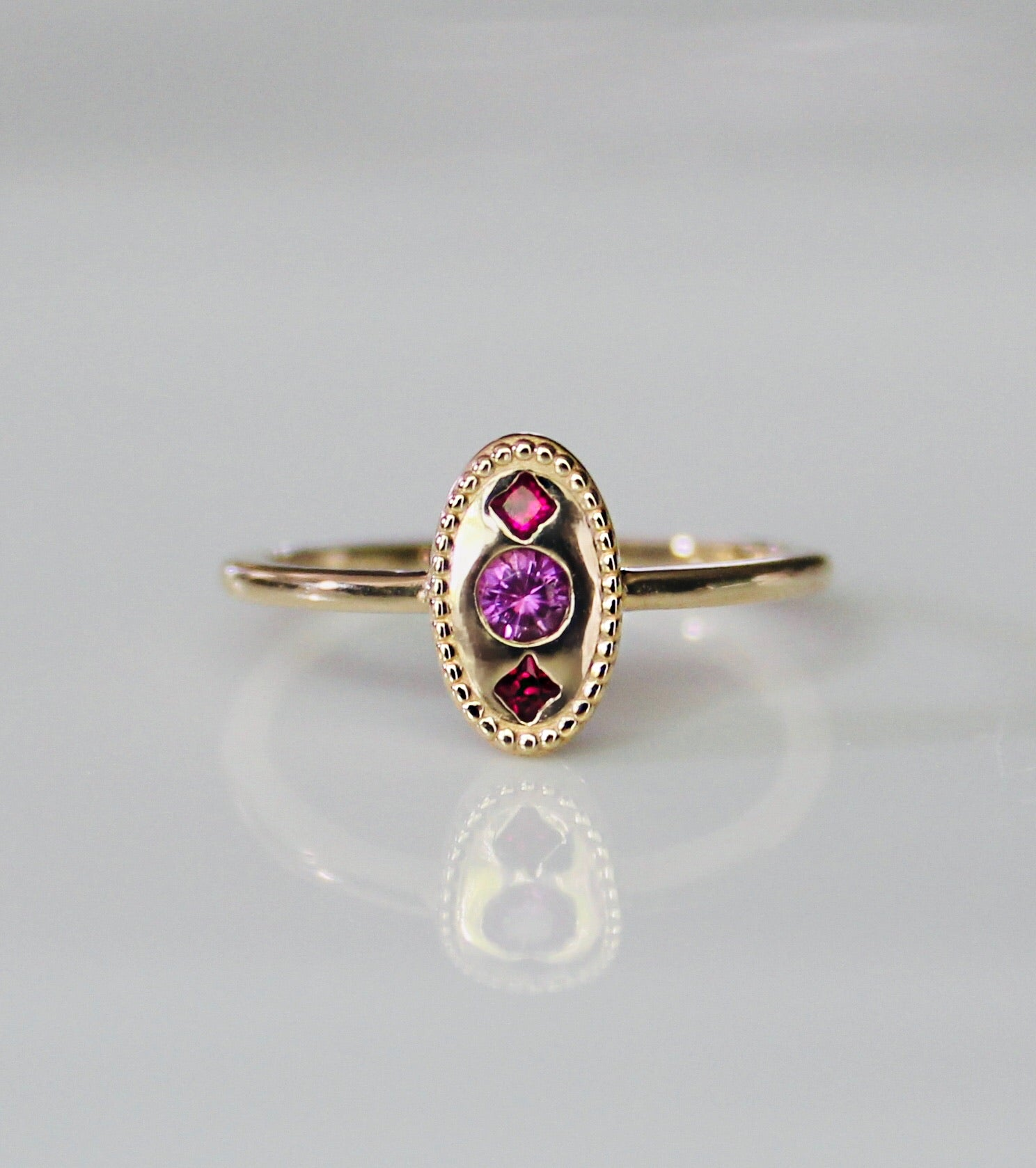 Pink Sapphire Marianne Ring