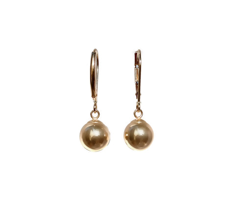 Golden Orb Earrings