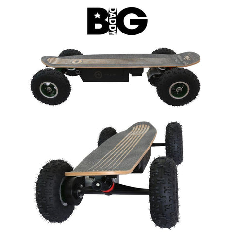 "FiiK Big Daddy Electric Skateboard 1000W 36V 30A/H ""Long Range"" Lithium Battery - WalkBye"