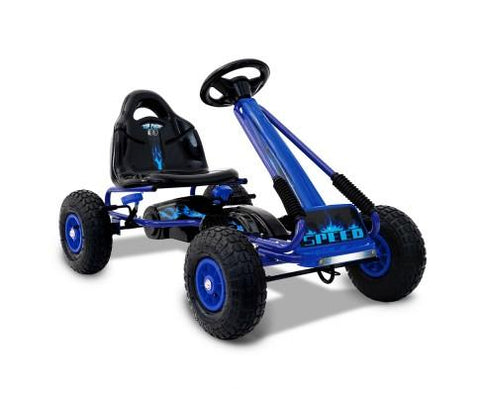 Kids Pedal Go Kart - Blue - WalkBye