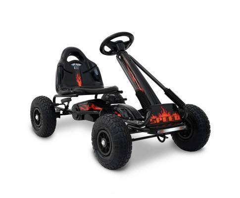 Kids Pedal Go Kart - Black - WalkBye