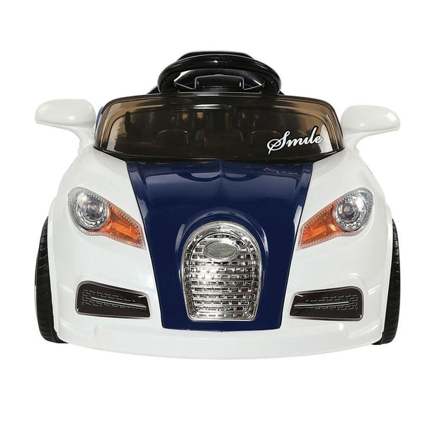 White Color Bugatti Kids Ride On Car with Remote Control - WalkBye