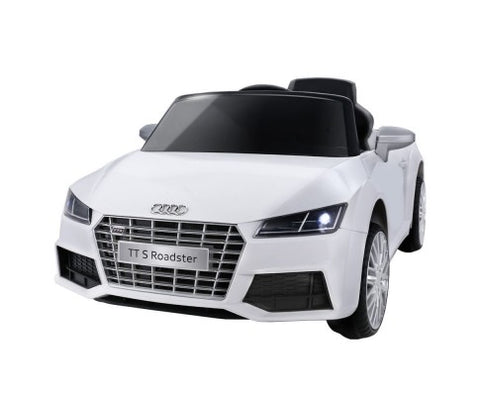 Audi Licensed Kids Ride On Cars Electric Car Children Toy Cars Battery White - WalkBye
