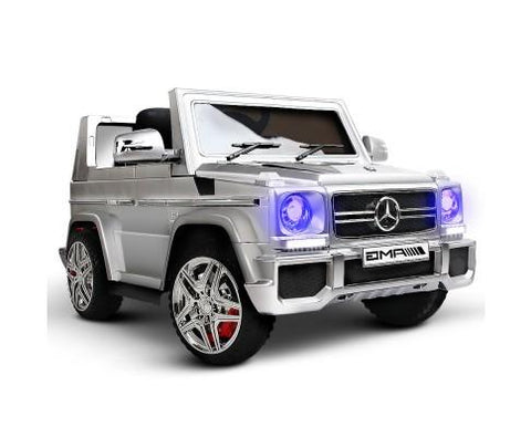 Silver Mercedes Kids Ride on Car with Remote Control - WalkBye