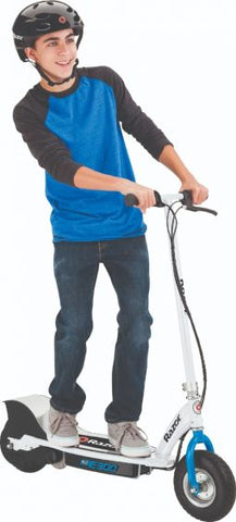 Razor E300 Electric Scooter White/Blue - WalkBye