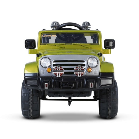 Green Color Kids Ride On Jeep with Remote Control - WalkBye