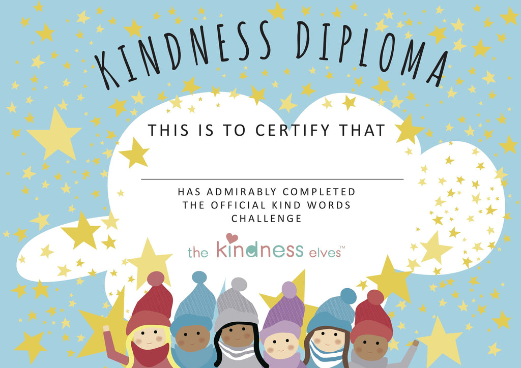 kind words challenge certificate  u2013 the kindness elves u2122